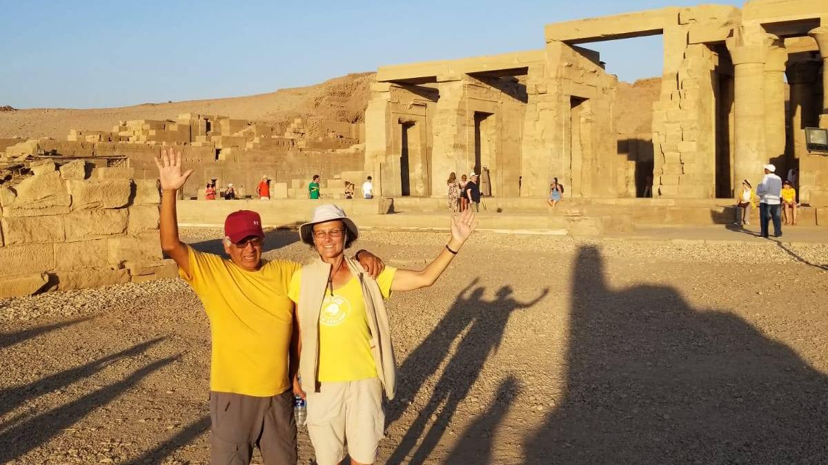 Blessed With Holding The Eternity Symbol Abu Simbel Egypt