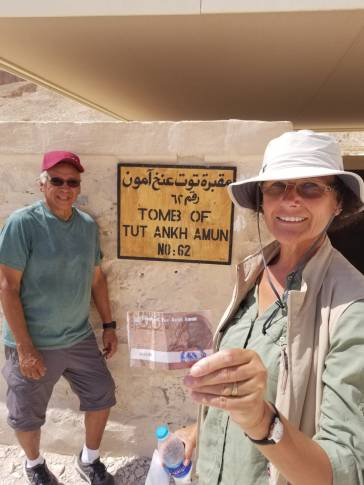 About to enter tomb of King Tut.